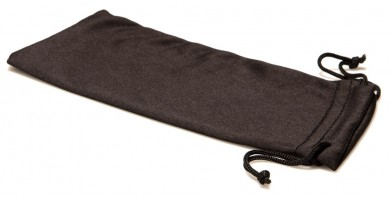 "Black Microfiber Sunglasses Pouches in Bulk (6.5"" x 3.5"") POUCH-MC"