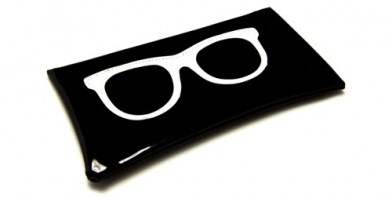 Black Vinyl Sunglasses Pouches Wholesale POUCH-WFBK