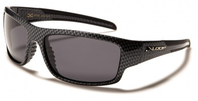 X-Loop Carbon-Fiber Print Polarized Sunglasses Bulk PZ-X2621