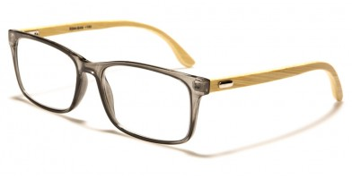 Rectangle Bamboo Temples Unisex Bulk Readers R344-BAM