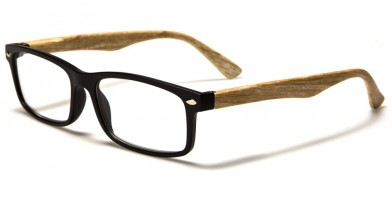 Wood Print Rectangle Unisex Readers In Bulk R353-ASST