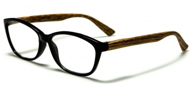 Wood Print Oval Women's Wholesale Readers R356-ASST