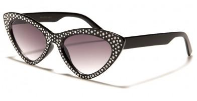 Cat Eye Rhinestone Women's Wholesale Sunglasses RH-3233