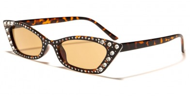 Thin Cat Eye Rhinestone Sunglasses Wholesale RH-3234