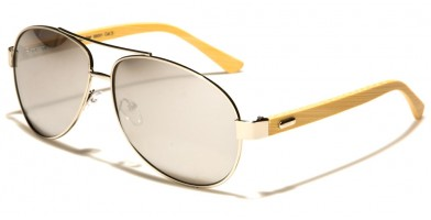 Superior Aviator Wood Wholesale Sunglasses SUP88001