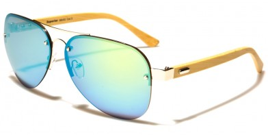 Superior Aviator Wood Sunglasses Wholesale SUP88002