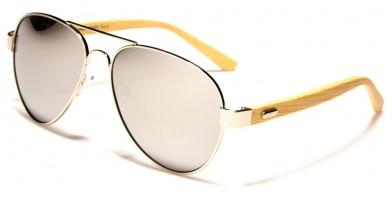 Superior Aviator Bamboo Sunglasses in Bulk SUP88003