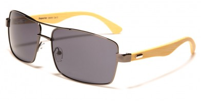 Superior Rectangle Bamboo Wholesale Sunglasses SUP88005