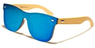 Superior Classic Wood Wholesale Sunglasses SUP89005-BLUE