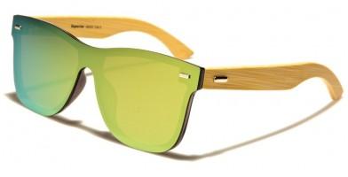 Superior Classic Wood Sunglasses in Bulk SUP89005-GREEN