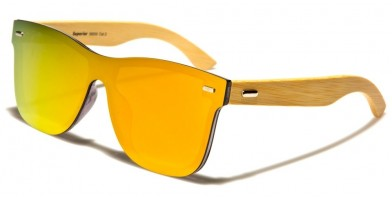 Superior Classic Wood Sunglasses Wholesale SUP89005-ORANGE