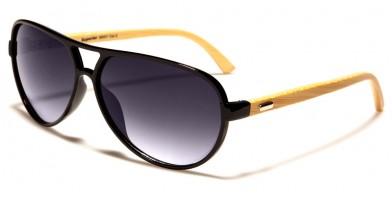 Superior Aviator Bamboo Bulk Sunglasses SUP89007