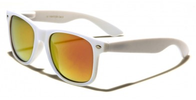 Classic Mirrored Unisex Sunglasses Wholesale W-1-WHT-CM