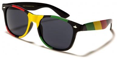 Classic Rasta Stripes Sunglasses in Bulk W-342-RS