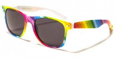 Pride Rainbow Print Unisex Sunglasses in Bulk W-403-RAINB