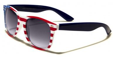 USA Flag Classic Unisex Sunglasses Wholesale W-443-FLAG