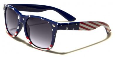 USA Flag Classic Unisex Sunglasses Wholesale W-465-FLAG