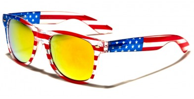 Classic USA Flag Unisex Sunglasses Wholesale W-659-FLAG