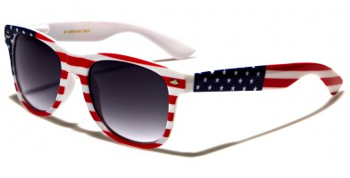 Classic USA Flag Unisex Sunglasses In Bulk W-690-FLAG