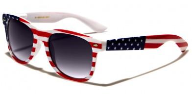 Classic USA Flag Unisex Sunglasses In Bulk W-690-FLAG