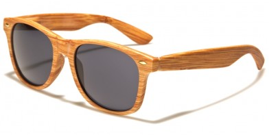 Wood Print Classic Unisex Wholesale Sunglasses W-694-WD