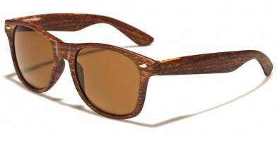 Wood Print Classic Unisex Sunglasses Bulk W-696-WD