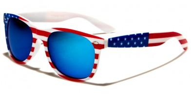 Classic USA Flag Unisex Sunglasses In Bulk W-7110-FLAG-WHT