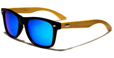 Classic Bamboo Polarized Sunglasses Wholesale W-7840PL-RV