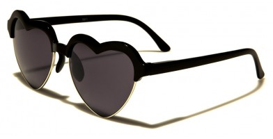 6312246608b Heart-Shaped Unisex Wholesale Sunglasses W-7871-HEART