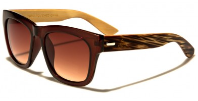 Classic Wood Unisex Sunglasses In Bulk WD-2001