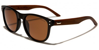 Classic Wood Polarized Sunglasses In Bulk WD-2007-POL