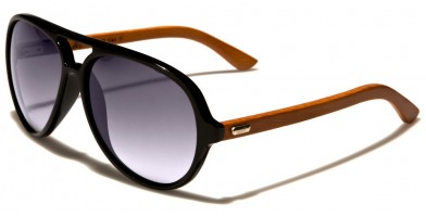 Aviator Wood Unisex Sunglasses Wholesale WD-2009