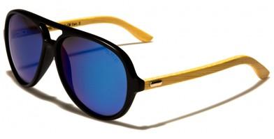 Aviator Wood Polarized Sunglasses Wholesale WD-2010-CM-POL