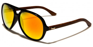 Aviator Wood Unisex Sunglasses Wholesale WD-2010-CM