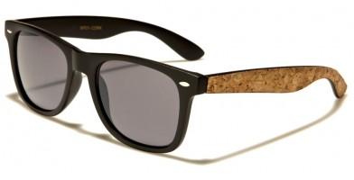 Classic Cork Accent Unisex Bulk Sunglasses WF01-CORK