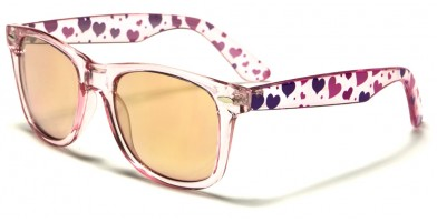 Classic Heart-Print Women's Sunglasses Bulk WF01-HEART