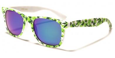 Classic Marijuana Leaf Print Wholesale Sunglasses WF01-MJ2