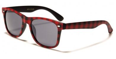 Classic Plaid Print Unisex Sunglasses in Bulk WF01-PLAID