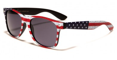 Classic USA Flag Unisex Wholesale Sunglasses WF01-USA-BK