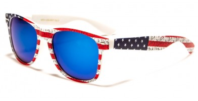 Classic USA Flag Unisex Bulk Sunglasses WF01-USA-WHT