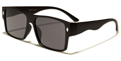Square Flat Lens Men's Sunglasses Bulk WF44-FL
