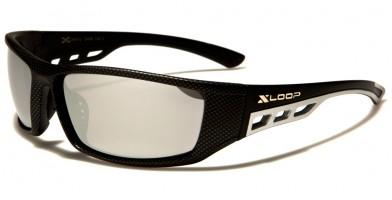 X-Loop Carbon-Fiber Print Wholesale Sunglasses XL2496