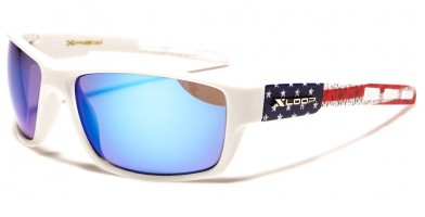 X-Loop Rectangle USA Flag Wholesale Sunglasses XL2590